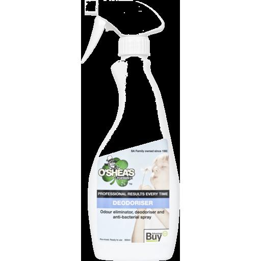 O Sheas Deodoriser & Antibacterial Spray Trigger 500ml