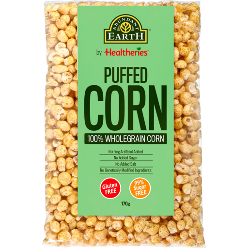 Abundant Earth Puffed Corn Gluten Free 175g