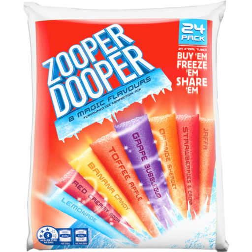 Zooper Dooper 8 Magic Flavours Flavoured Ice Confection Mix