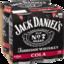 Photo of Jack Daniel's & Cola 4 Pack 375ml