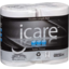 Photo of Icare Classic White Toilet Tissue 3ply 4 pack