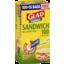 Photo of Glad Sandwich Snap Lock Bag 100's