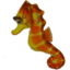 Photo of Plush Sea Horse Orange 38cm