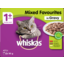 Photo of Whiskas Cat Food Pouch Mixed Favourites 12 Pack