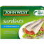 Photo of John West Sardines Spring Water Salt Reduced 110gm