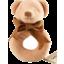 Photo of Maud n Lil Organic Cotton Rattle Ring - Honey Bear