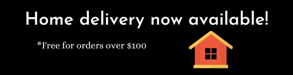 Image saying free home delivery now available, with exclamation mark to emphasise the point.