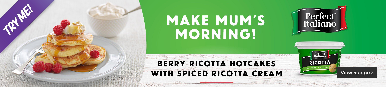 View the Berry Ricotta Hotcakes Recipe