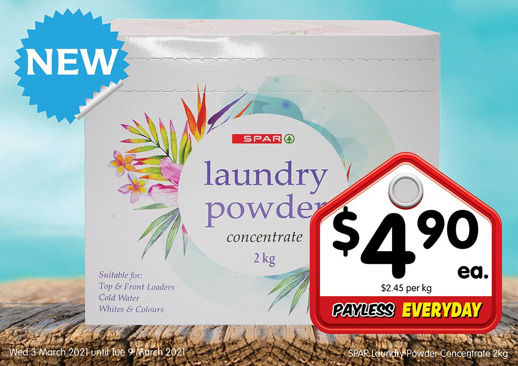 Image of SPAR Laundry Powder Concentrate 2kg at $4.90 each