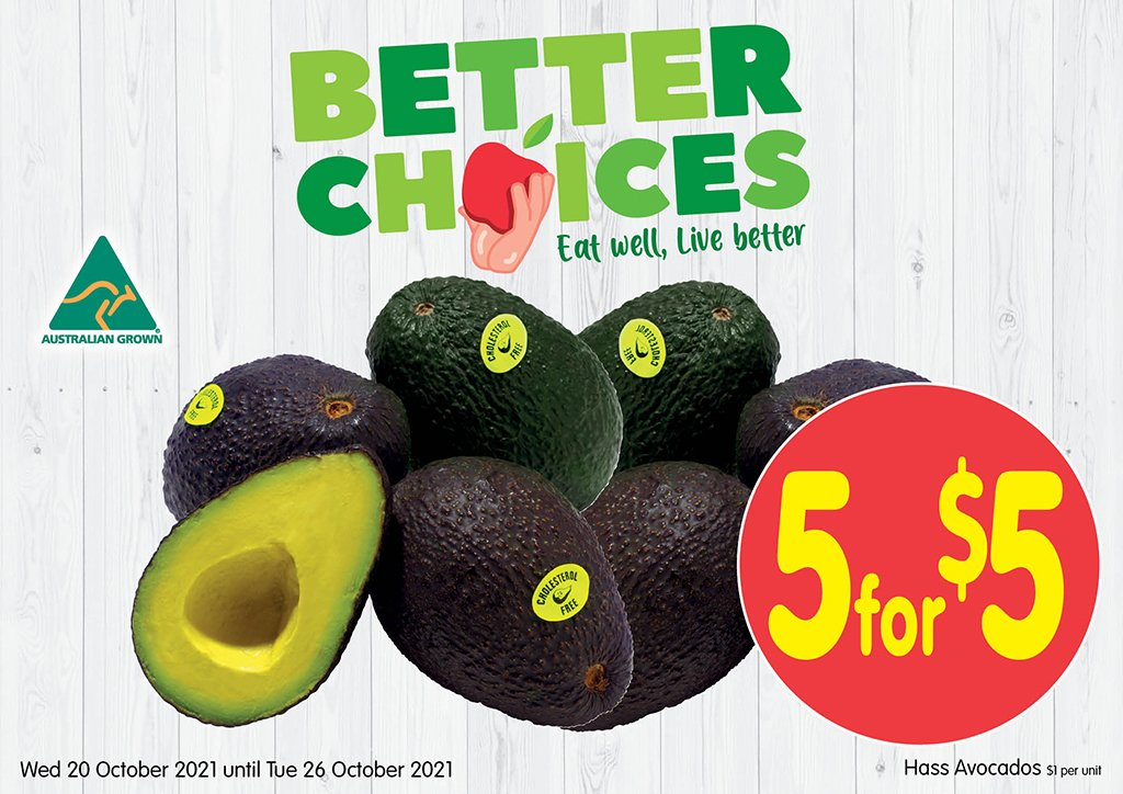 Image of Hass Avocado at 5 for $5.00