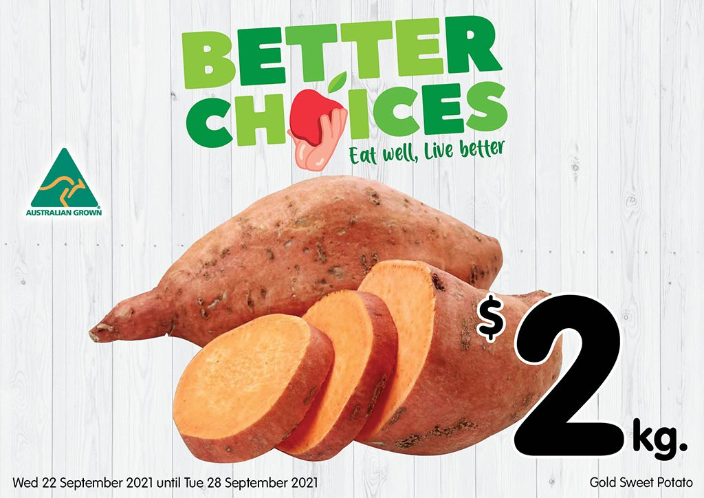 Image of Gold Sweet Potatoes at $2.00 per kg