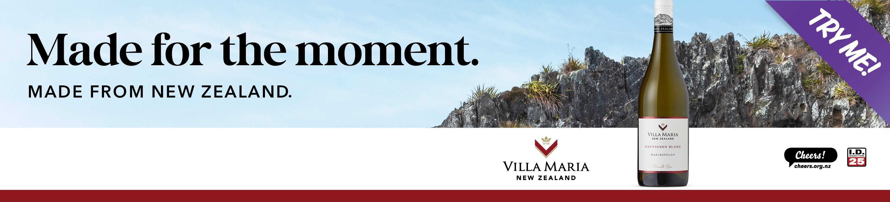 Made for the moment - Made from NZ, Villa Maria Wines Try Me