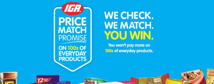 Price Match - We match prices for many products with major supermarkets
