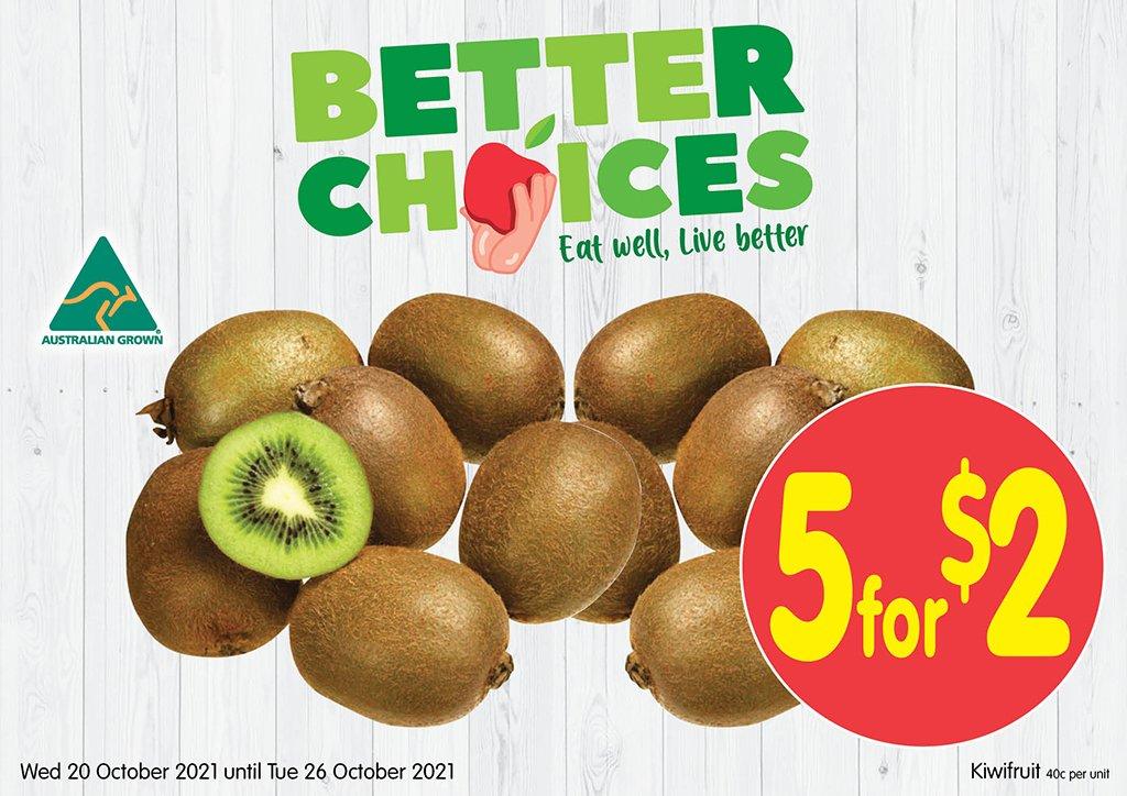 Image of Kiwi fruit at 5 for $2.00