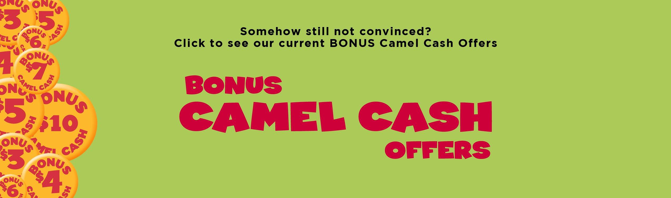 bonus camel cash offers