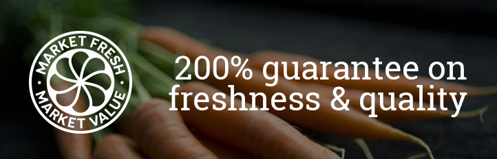 200% guarantee on freshness and quality