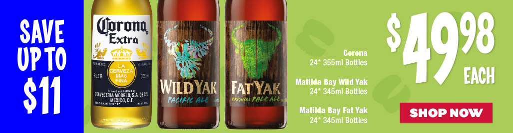 Corona / Matilda Bay Fat Yak / Matilda Bay Wild Yak