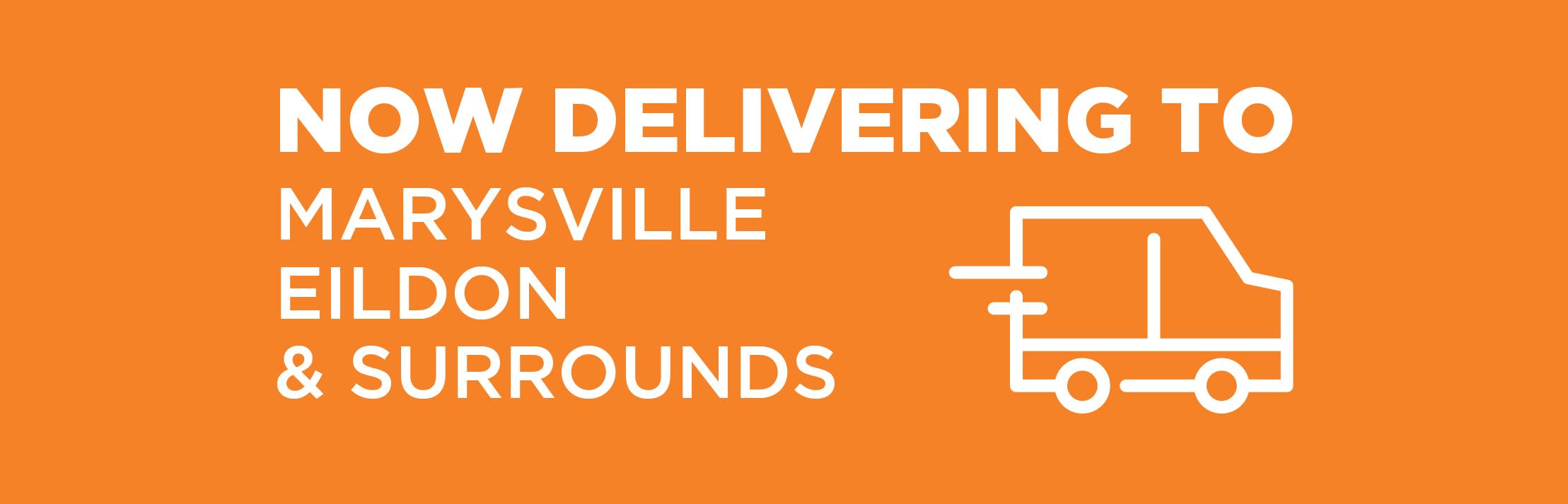 Delivery to Alexandra, Eildon & Marysville