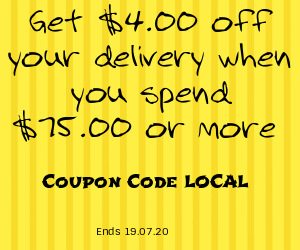 School Holiday Promotion, $4 off your delivery when you spend $75.00 or more