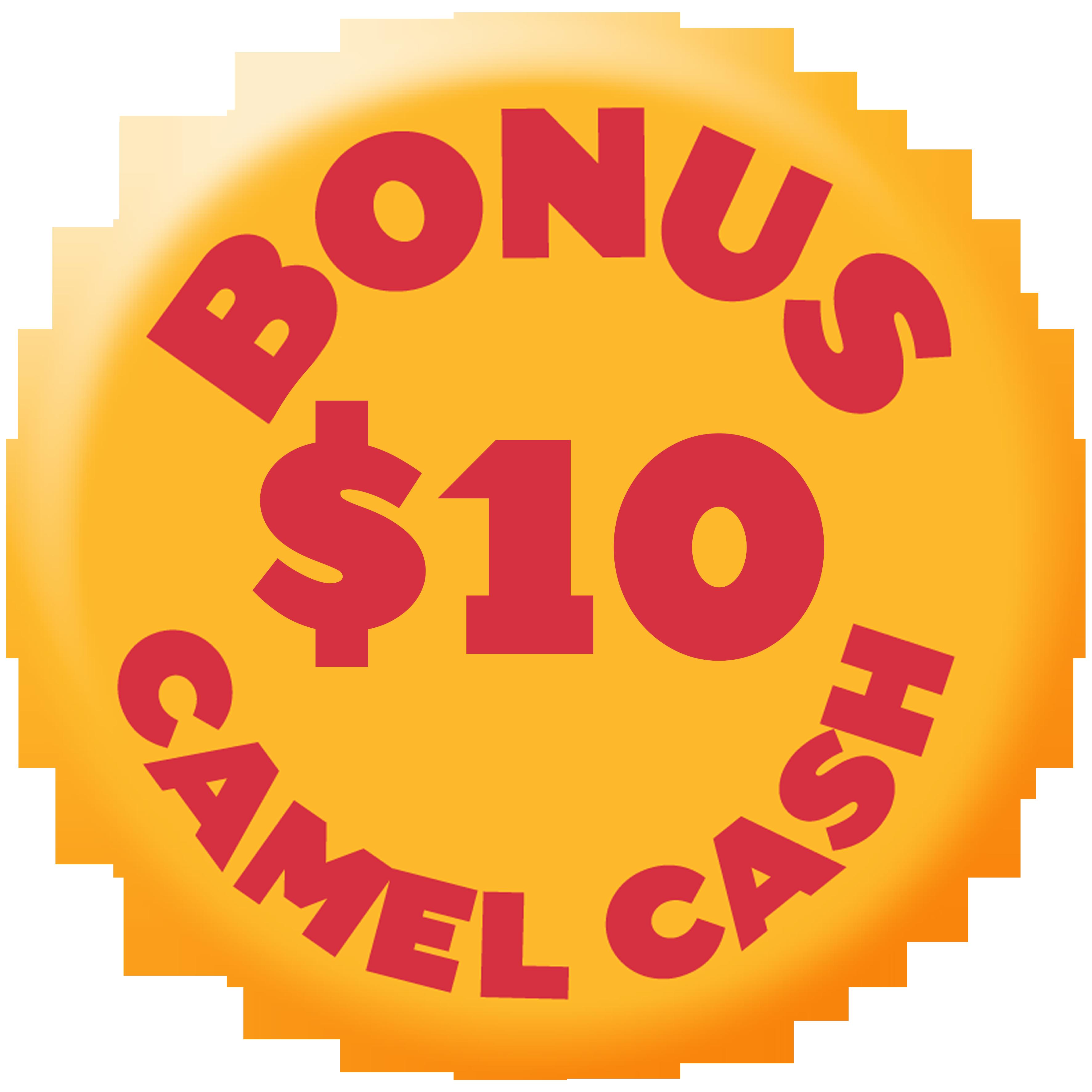 Bonus $10 Camel Cash