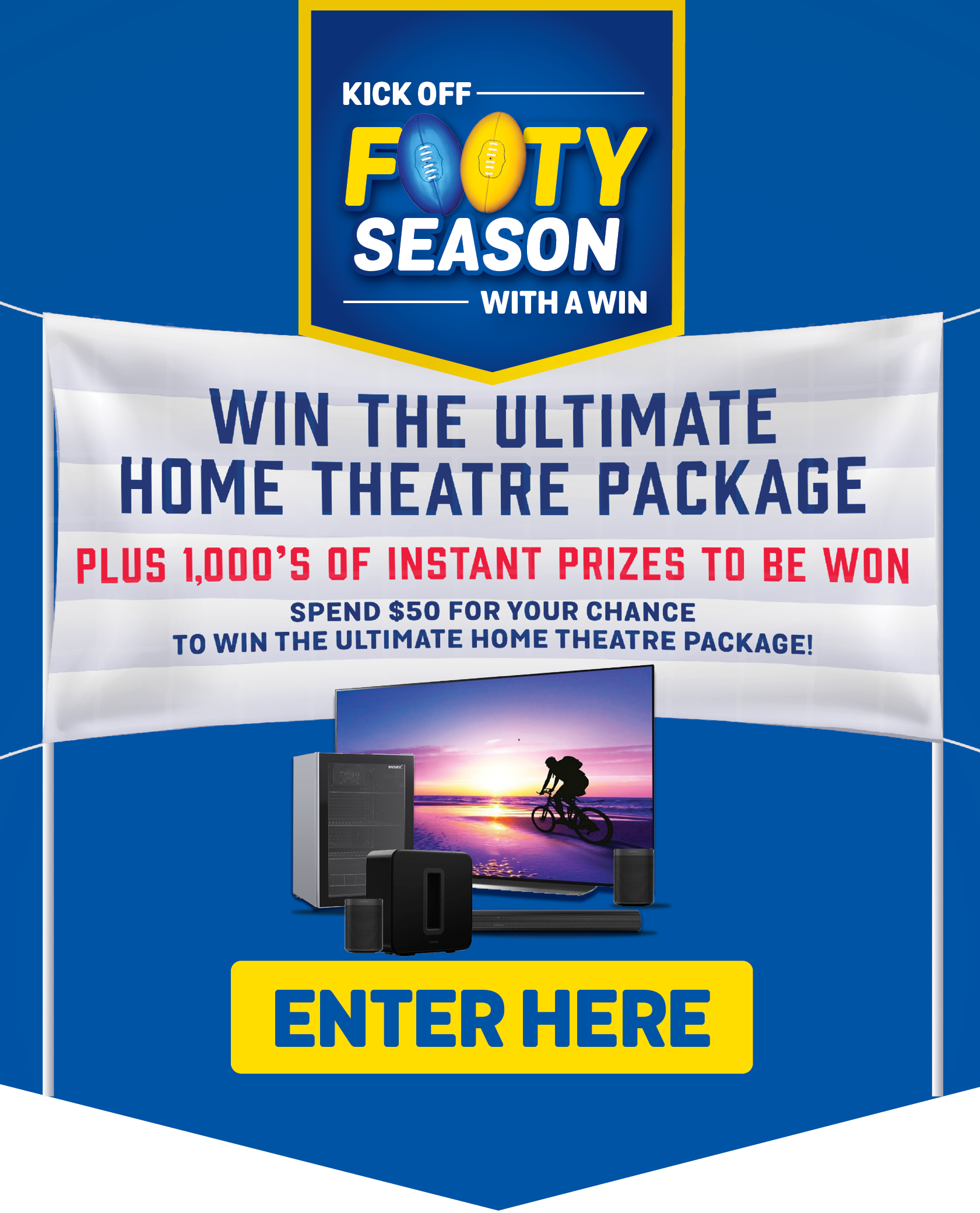 Enter now to go into the draw for your chance to win the Ultimate Home Theatre Package