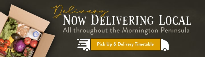 We now deliver throughout Mornington Peninsula. To view timetable click here.